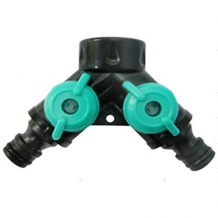 Snap-in dual hose coupling